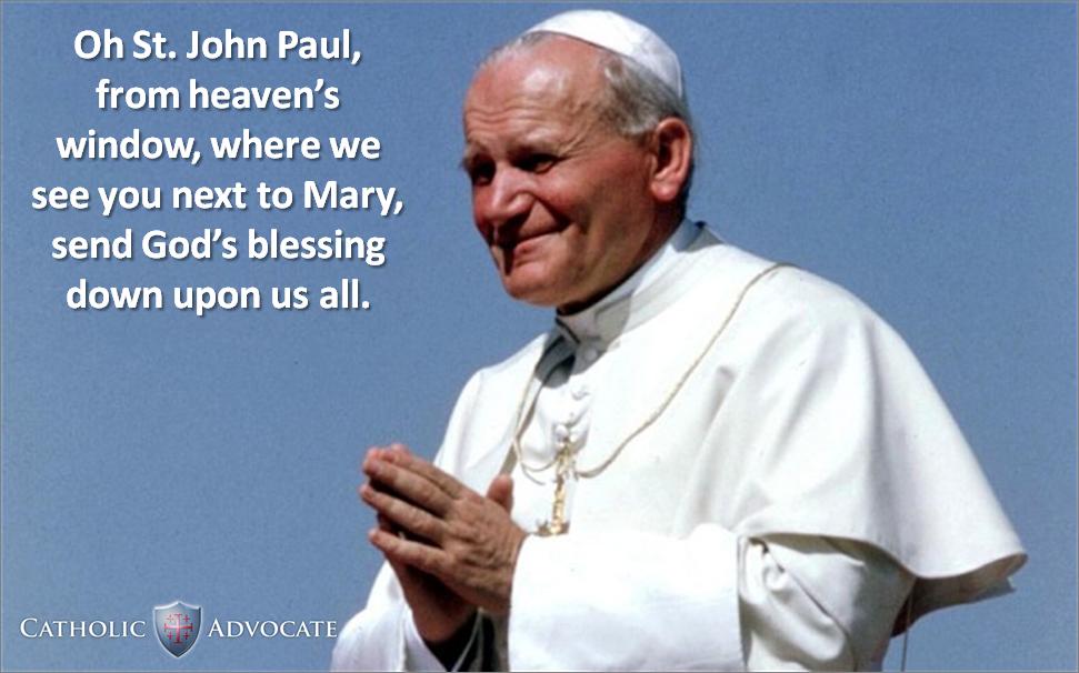 Feast Day of St. Pope John Paul II